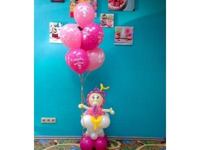 Малышка с шарами