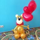 Мишка с 3-мя сердечками