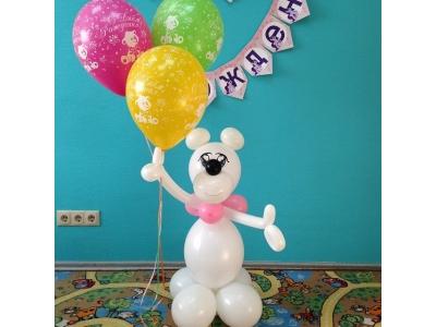 Мишка с 3-мя шарами