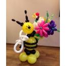 """Игрушка """"Пчёлка с букетом"""""""